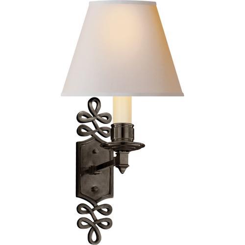 Alexa Hampton Ginger 1 Light 8 inch Gun Metal Decorative Wall Light