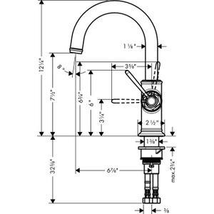 Chrome Single lever kitchen mixer 1.5 GPM