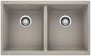 Precis Equal Double Bowl - Concrete Gray Product Image