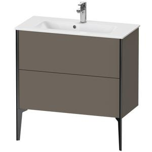 Vanity Unit Floorstanding Compact, Flannel Gray Satin Matte (lacquer)