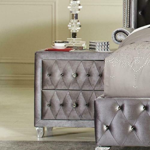 Deanna Metallic Nightstand