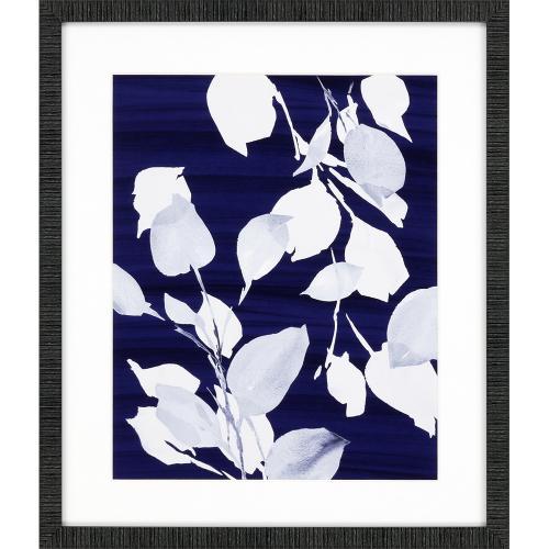 Simple Leaves on Navy