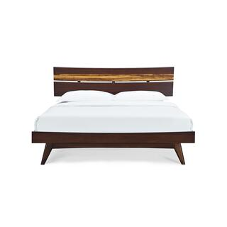 Azara California King Platform Bed, Sable