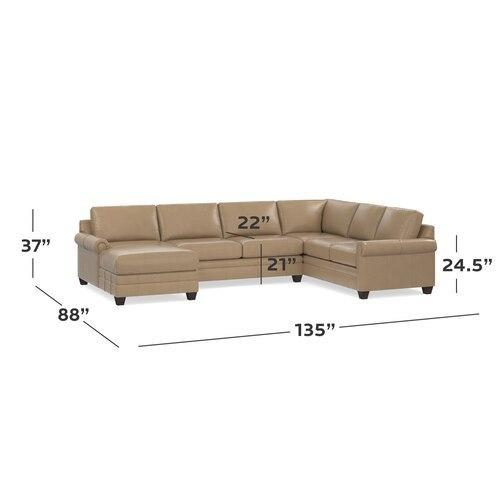 CU.2 Leather U-Shaped Sectional