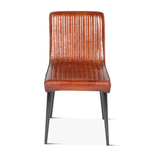 Riviera Dining Chair with Ribbed Leather