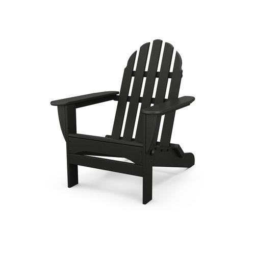 Black Classic Folding Adirondack Chair