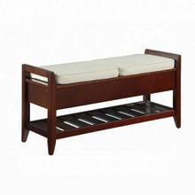 ACME Belch Bench w/Storage - 96772 - Fabric & Espresso