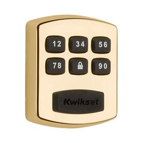 905 Keywayless Electronic Deadbolt - Polished Brass