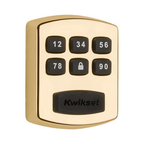 Kwikset - 905 Keywayless Electronic Deadbolt - Polished Brass