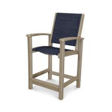 View Product - Coastal Counter Chair in Vintage Sahara / Sapphire Sling
