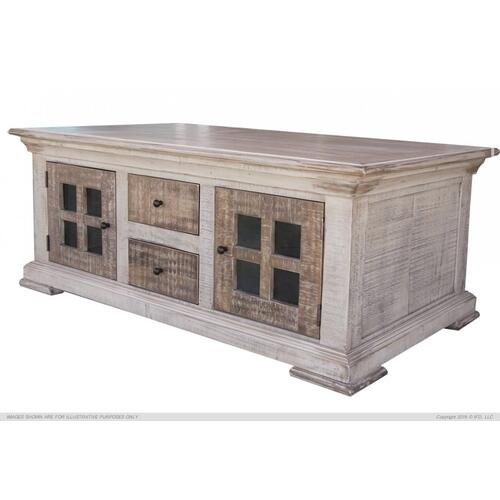Gallery - 4 Drawer, 4 Door Cocktail Table