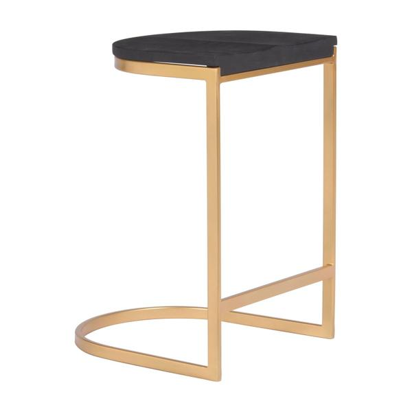 See Details - Louis Counter Stool Black & Gold