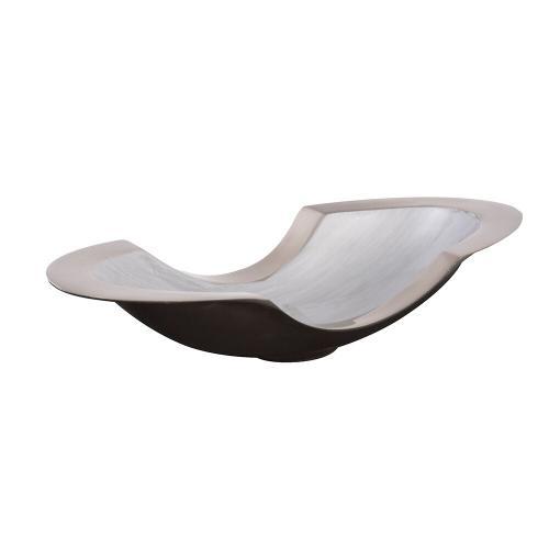 Howard Elliott - Flared Aluminum Bowl with Gray Glaze