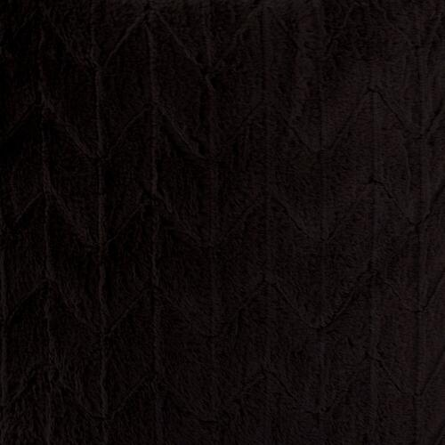 Howard Elliott - Scroll Puff Ottoman Angora Ebony