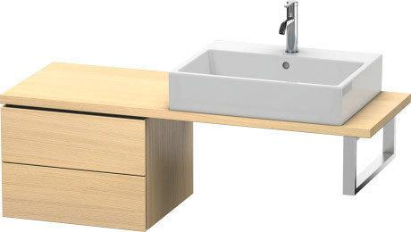 Low Cabinet For Console Compact, Mediterranean Oak (real Wood Veneer)