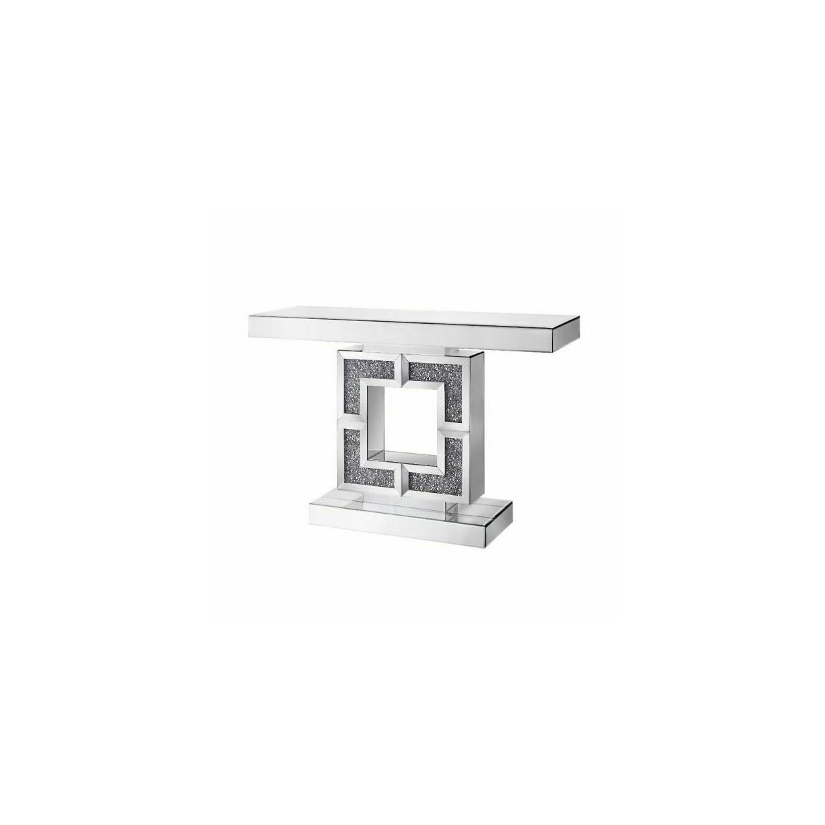 ACME Noralie Console Table - 90450 - Mirrored & Faux Diamonds