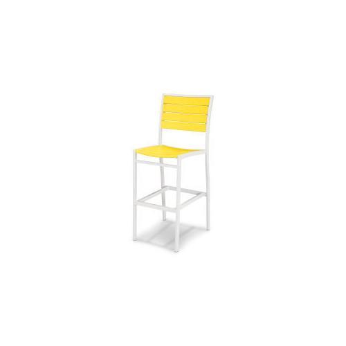Polywood Furnishings - Eurou2122 Bar Side Chair in Satin White / Lemon