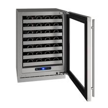 """View Product - Hwc524 24"""" Wine Refrigerator With Stainless Frame Finish and Field Reversible Door Swing (115 V/60 Hz Volts /60 Hz Hz)"""