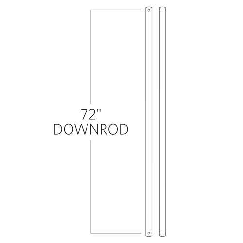 "72"" Downrod - Brushed Steel"