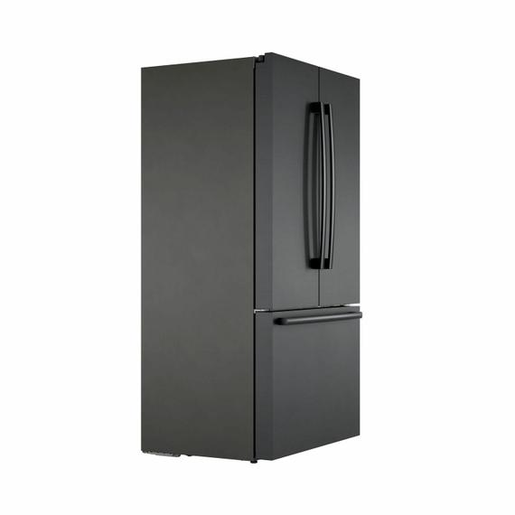 800 Series French Door Bottom Mount Refrigerator 36'' Black stainless steel B36CT80SNB