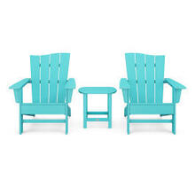 View Product - Wave 3-Piece Adirondack Chair Set in Aruba