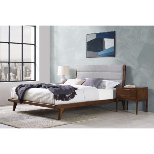 Mercury Upholstered California King Platform Bed, Exotic