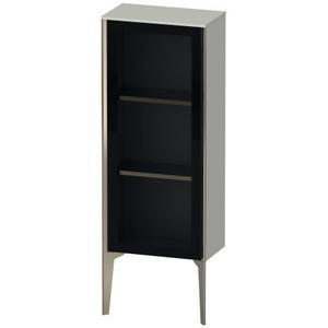 Duravit - Semi-tall Cabinet With Mirror Door Floorstanding, Concrete Gray Matte (decor)