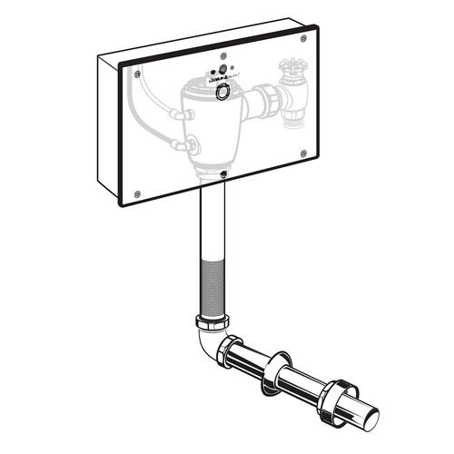 Selectronic Concealed Toilet Flush Valve with Wall Box for Floor-Mount, Back Spud Bowls  American Standard - No Finish