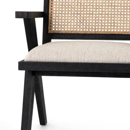 Drifted Matte Black Finish Flora Dining Chair