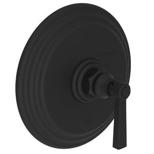Flat Black Balanced Pressure Shower Trim Plate with Handle. Less showerhead, arm and flange.