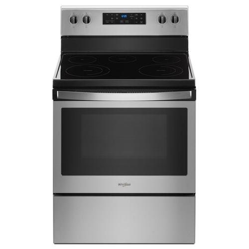 Whirlpool - 5.3 cu. ft. Freestanding Electric Range with 5 Elements Fingerprint Resistant Stainless Steel