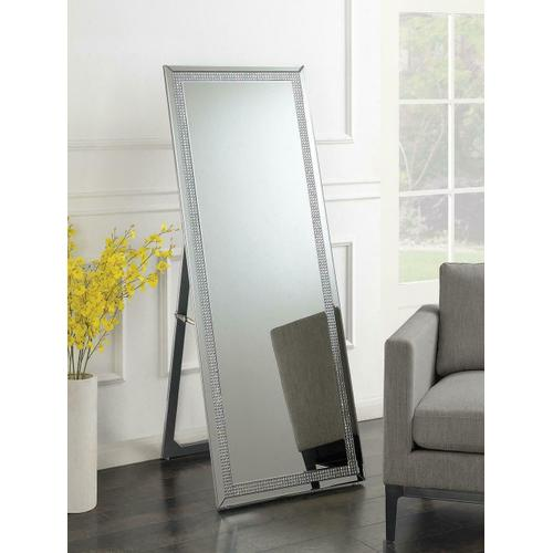 Silver Standing Cheval Mirror