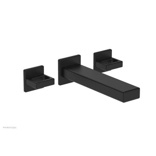 MIX Wall Lavatory Set - Ring Handles 290-13 - Matte Black