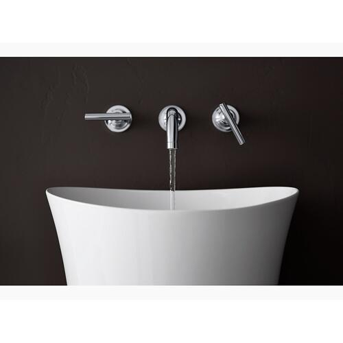 White Pedestal Bathroom Sink Without Overflow