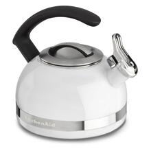 2.0-Quart Stove Top Kettle with C Handle White
