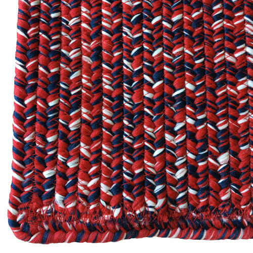 Team Spirit Crimson Navy Braided Rugs