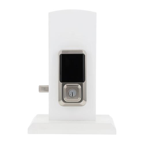 Kwikset - Halo Touchscreen Wi-Fi Enabled Smart Lock - Satin Nickel