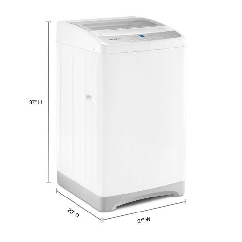 Whirlpool - 1.6 cu. ft. Compact Top Load Washer with Flexible Installation