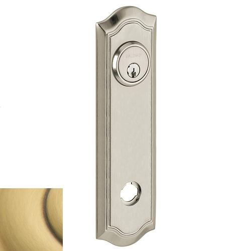 Baldwin - Satin Brass and Brown R029 Bethpage Rose