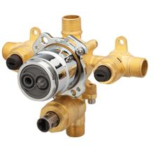 New - Treysta® Tub & Shower Valve W/ Diverter- Horizontal Inputs With Stops- Ips/sweat