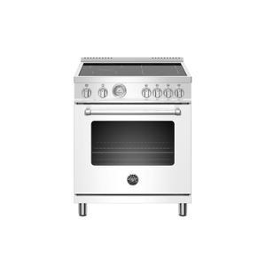 Bertazzoni30 inch Induction Range, 4 Heating Zones, Electric Oven Bianco Matt