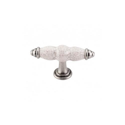 Top Knobs - Ceramic T-Handle 3 3/8 Inch - Pewter Antique