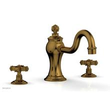 MARVELLE Deck Tub Set - Cross Handles 162-40 - French Brass