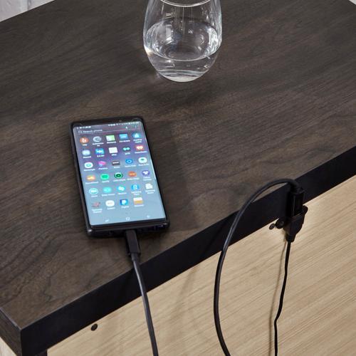 Barnwood 2 Drawer USB Charging Nightstand