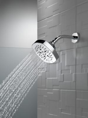 Chrome 5-Setting H2Okinetic Shower Head Product Image