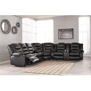 Vacherie - Black 3 Piece Sectional Product Image