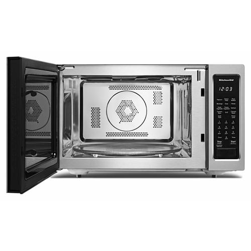 """KitchenAid Canada - 21 3/4"""" Countertop Convection Microwave Oven - 1000 Watt - Stainless Steel"""