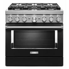 See Details - KitchenAid® 36'' Smart Commercial-Style Dual Fuel Range with 6 Burners - Imperial Black