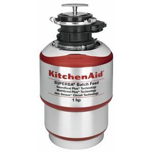 KitchenAid1-Horsepower Batch Feed Food Waste Disposer - Red
