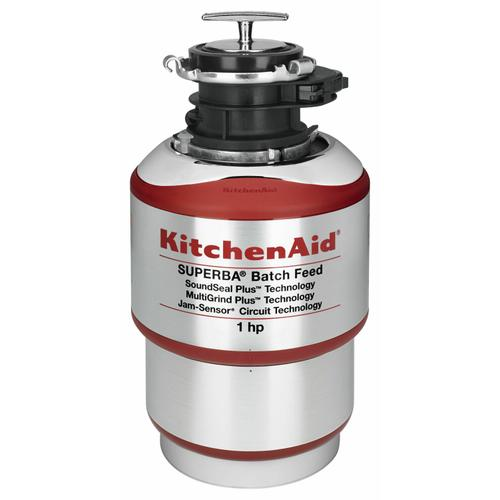 Gallery - 1-Horsepower Batch Feed Food Waste Disposer - Red